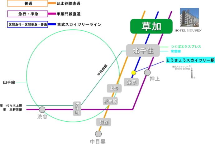 アクセス路線図